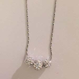 Charming Charlie RSVP Silver Crystal Necklace